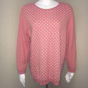 Ann Taylor Loft Sweater Polka Dots